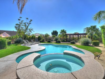 Photo for Palm Springs/Rancho LUXURY Home 4 Bedroom Pool+Spa for Weekends, and more