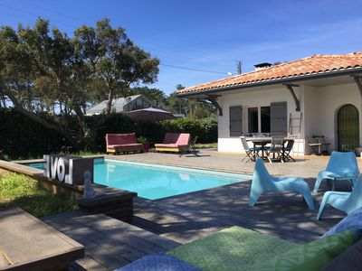 Photo for Beautiful Landaise style Villa 2 steps from the sea