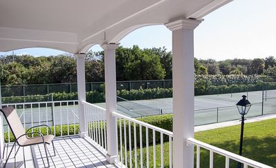 Master Bedroom Balcony view of the Tennis Courts
