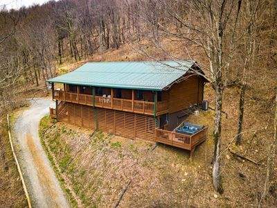 Photo for Long-Range Views, located in Boone on Quiet, Wooded Mountainside, Hot Tub, Pool Table, Granite Counters & Stainless Appliances