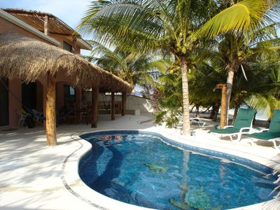 Photo for Casa Rosa, A Gorgeous Beachfront House With Freshwater Pool near Tulum