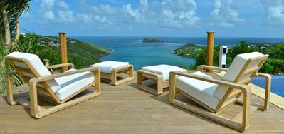 Villa Bel Ombre  -  Ocean View - Located in  Wonderful Marigot with Private Pool