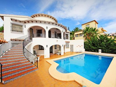 Photo for This 5-bedroom villa for up to 10 guests is located in Pego and has a private swimming pool.........