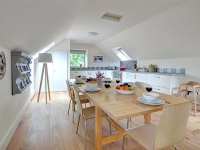 Photo for With the light open plan living area on the first floor, Cefn Mawr is a barn and hayloft conversion