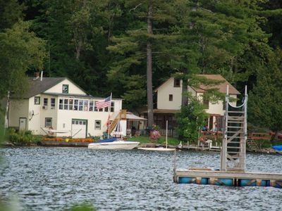 Photo for Lake Front Cottage with great beach and swimming.  Afternoon sun, great sunsets.