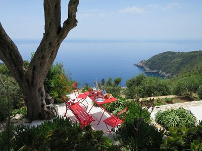 Photo for Zoe, 2-6 guests, unique old stone house with stunning sea viewsand  heated pool