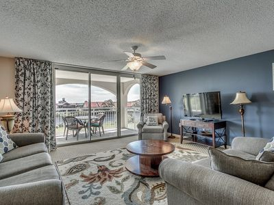 Photo for Upscale Waterway View Condo, Onsite Golf Course | Yacht Club Villas - 3-303