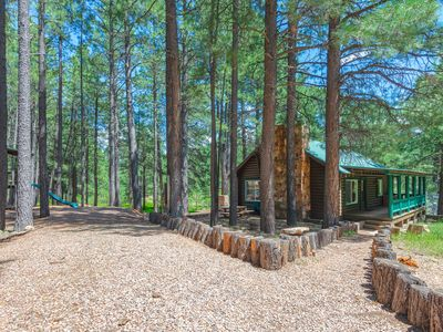 Photo for Forest Lakes Cabin | Nestled on a 1.5 acres property| Lots of places to take a walk and hike