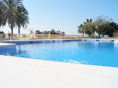 Photo for Spacious 2 bedroom apartment in front of the beach in Benalmádena.