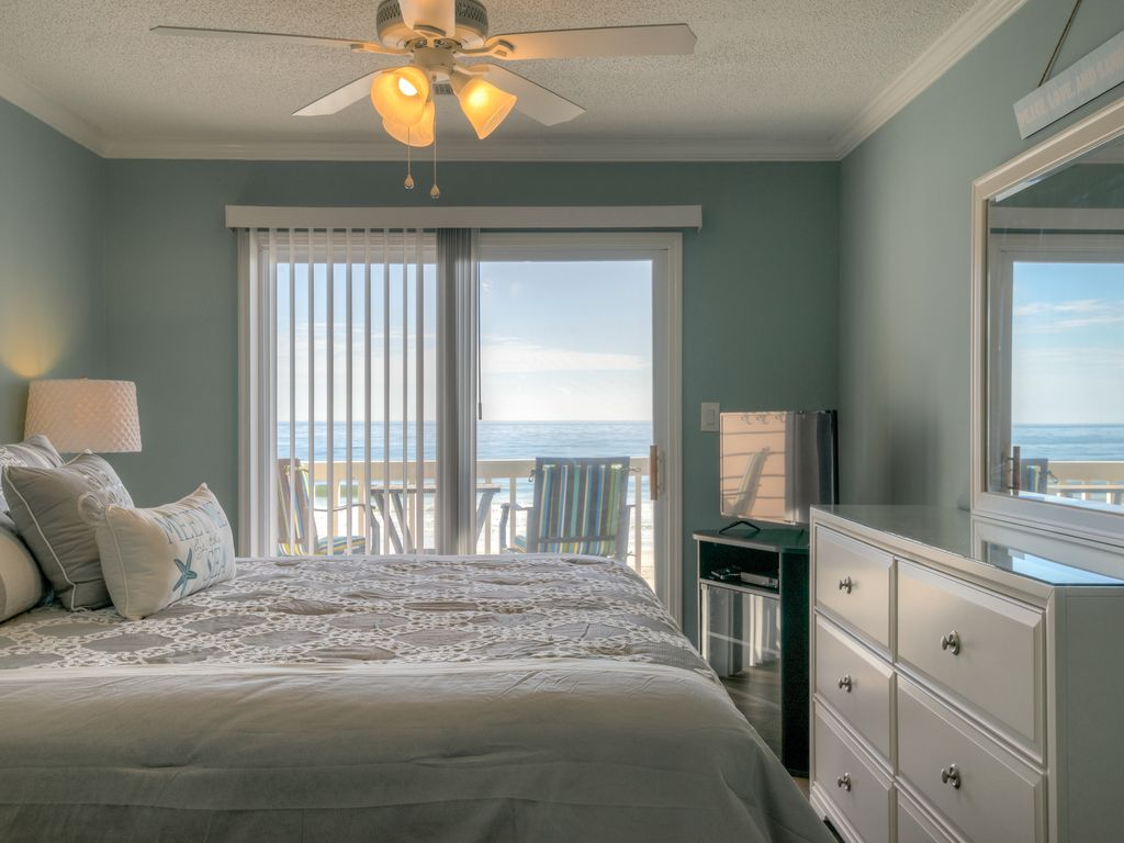 Direct Oceanfront Updated 3 Br Condo In Surfside Beach Sc