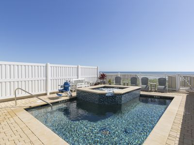 Photo for Divine Beachfront Home for your Luxury Vacation! Private Pool & Hot Tub, Private Boardwalk!