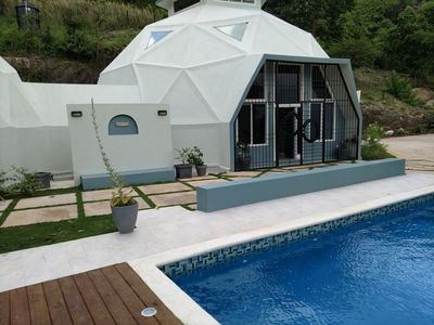 Villa Cupola Is An Exquisitely Designed 5 B/R Geodesic Dome With A Private Pool.