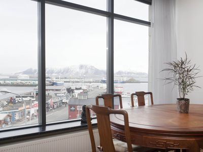 Photo for Superior Harbour View apartment in Reykjavík - free parking house (a rare find)