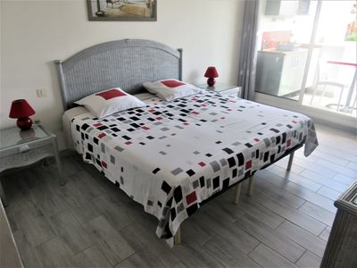 Photo for Studio 2 minutes beaches, marina and shops, with ADSL INTERNET access