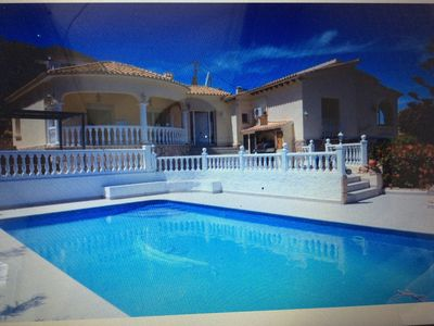 Photo for Dénia superb house, sea view, pool, quiet,