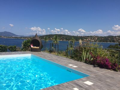 Photo for Beachfront villa with pool and sea view   12 to 14 people