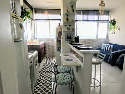Photo for Beautiful kitchenette, with wonderful views of the sea! Foot on the sand!