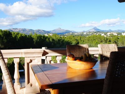 Photo for Villa in quiet residential area with beautiful views of the Tramuntana Mountains