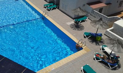 Photo for 450 m to the beach, holiday home very private, roof terrace, communal pool