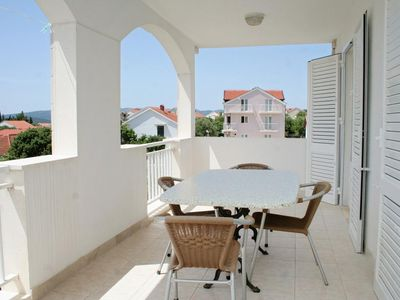Photo for Two bedroom apartment with terrace and sea view Orebić, Pelješac (A-4536-a)
