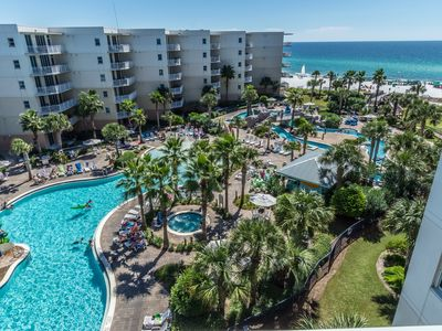 Photo for Waterscape B612 ~ Top Floor ~ Beach & Lazy River Views ~ Free Beach Service!