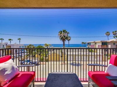 Photo for Windansea La Jolla Condo with a view! 2 master bedrooms + walk to the beach!