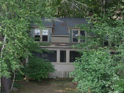 Squam Lakeside Cottage Spend Your HomeAway Holderness - And architectural cottages on secluded private pond homeaway