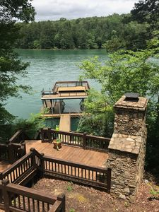 Photo for Blue Bear's Cabin on Lake Blue Ridge.  Rare gem on deep water of the lake!
