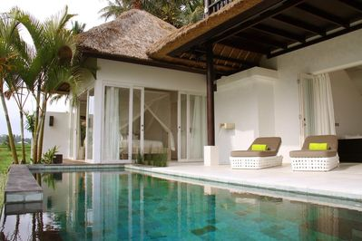 Private pool next to 3rd bedroom