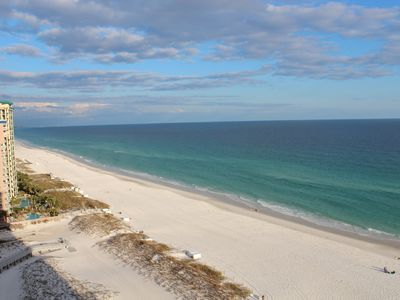 Photo for AUGUST & FALL AVAILABLE!  2BR 2BA, on beach, pools, huge balcony