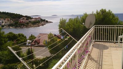 Photo for One bedroom apartment with terrace and sea view Bilo, Primošten (A-4208-b)