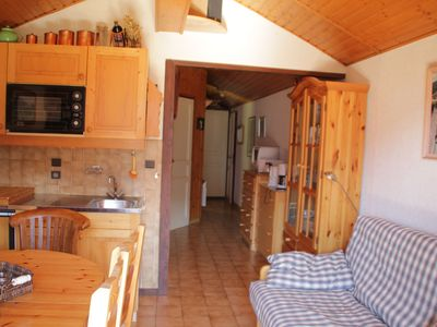 Photo for Cozy apartment located only 600 meters from the ski lifts
