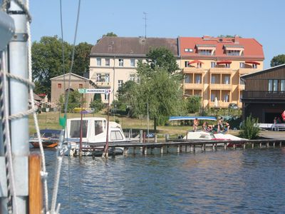 Photo for Apartment house on Grienericksee with lake view balcony