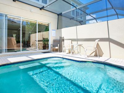 Photo for 3-bedroom, 3-bathroom town home rental in Windsor Hills Resort with private lounge pool