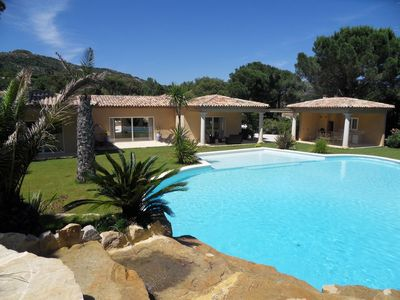 Photo for Air-conditioned villa, sleeps 10, Plan de la Tour, Gulf of St Tropez