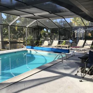 Photo for 4 Bedroom 3 bath Canal, South facing Pool home, Free boat docking, Pet friendly