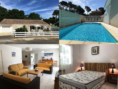 Photo for 4-bedroom pool villa for 10 in Lacanau-Océan, 400 m from the beach
