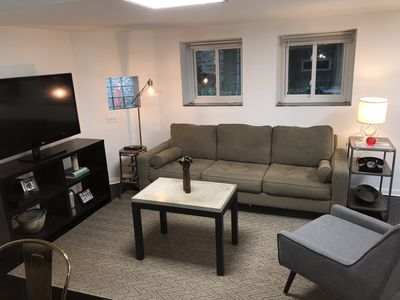 cozy living space with wifi and cable included