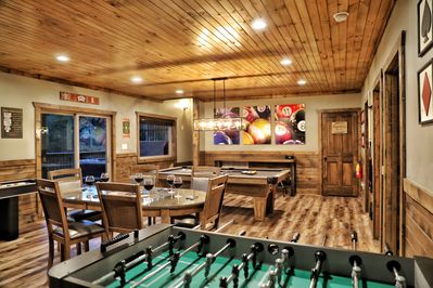 Massive game room - Pool, Foosball, Gaming table, shuffleboard, and Board Games