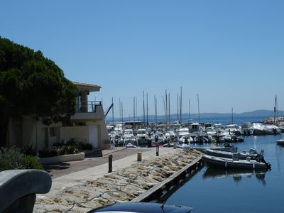 Photo for The beach and the port on foot, on the ground floor of a villa with a quiet garden