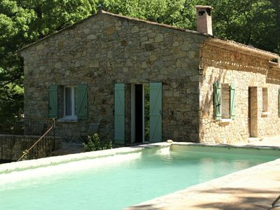 Photo for Complete privacy in this beautiful Bastide with private swimming pool in the middle of the forest!