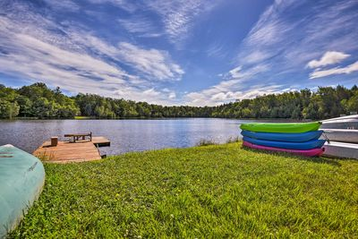 Enjoy access to 2 private, Camelot Forest lakes at this vacation rental home!