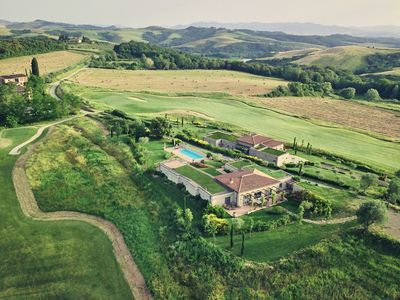 Photo for Large villa to rent in Tuscany with pool, AC, Wi-Fi, Golf, Tennis, walk to town, views, weddings and celebrations