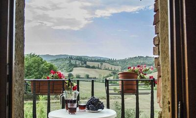 Photo for Apartment on the 1st floor with a romantic balcony and a charming view