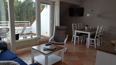 Photo for Beautiful holiday apartment with balcony and indoor pool in country house style for 3-4 people