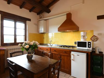 Photo for Farmhouse between Perugia and Assisi - Trilocale Terrace Apartment