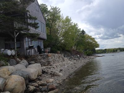Photo for Surry (Acadia) Cottage Built Directly On Beach