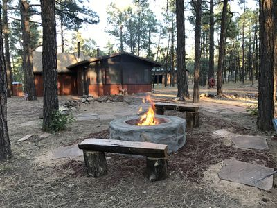 Photo for Wild Saddle Ranch Cabin-Our gate opens to the Sitgreaves National Forest!