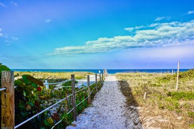 As you're walking down the path to the shore from this luxury condo at Cabrillo 3 South.
