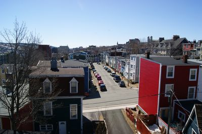 View of streets from Back Deck